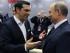El primer ministro griego, Alexis Tsipras (izq), conversa con el presidente ruso, Vladímir Putin (dcha), antes de participar en una sesión plenaria del Foro Económico Internacional de San Petersburgo (Rusia) hoy, viernes 19 de junio de 2015. Tsipras dijo hoy que se encuentra en Rusia en medio de las negociaciones de su país con los acreedores porque Europa ya no es el centro del mundo. EFE/Mikhail Klimentiev/Pool