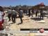 Imagen tomada de un video de Tunisia TV1 muestra a personas heridas en una playa de Túnez el viernes 26 de junio de 2015. Al menos 28 personas murieron en un ataque ocurrido en la ciudad costera de Sousse, informó el Ministerio del Interior. (Foto Tunisia TV1 via AP)