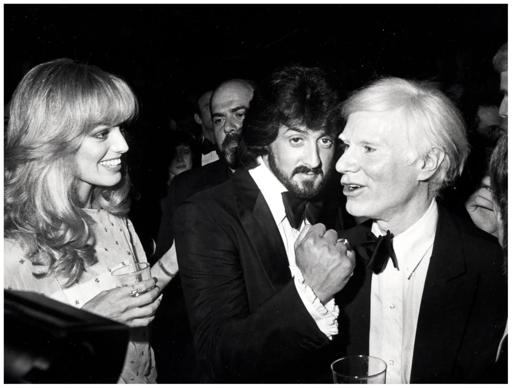 Sylvester Stallone y Andy Warhol en el Studio 54