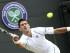 El tenista serbio Novak Djokovic devuelve la bola al sudafricano Kevin Anderson durante su partido de cuarta ronda del torneo de tenis de Wimbledon en el All England Lawn Tennis Club de Londres (Reino Unido) hoy, martes 7 de julio de 2015. EFE/Sean Dempsey.