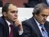 Fotografía de archivo fechada el 29 de mayo de 2015 que muestra al presidente de la UEFA, Michel Platini (d), junto al príncipe jordano Ali bin Al-Hussein, durante el 65 congreso de la FIFA en Zúrich, Suiza. EFE/PATRICK B. KRAEMER.
