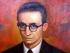 César Dávila Andrade, poeta ecuatoriano. Foto de su retrato, difundida por sinfonicacuenca.gob.ec