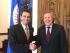 El líder opositor Herique Capriles junto a Luis Almagro, secretario general de la OEA.