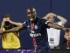 El mediocampista del Paris Saint-Germain, Blaise Matuidi, celebra su gol ante el Manchester United en la primera mitad del duelo de la Copa Internacional de Campeones el miércoles 29 de julio de 2015 en Chicago. (Foto AP/Kamil Krzaczynski).