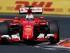 El piloto de Ferrari Sebastian Vettel conduce su auto durante el Gran Premio de Hungría de Fórmula que se corrió en Budapest el domingo 26 de julio de 2015. (Foto AP/Darko Vojinovic)