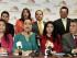 La presidenta de la Asamblea Nacional, Gabriela Rivadeneira, recibe el proyecto de Ley de Movilidad Humana el jueves 16 de julio de 2015. Foto: API