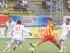 Campeonato Ecuatoriano de fútbol, segunta etapa, partido Aucas vs Liga de Loja en el estadio de Chillogallo. En la gráfica: 30 KENER ARCE, OMAR ANDRADE 11. QUITO, 25 DE JULIO DEL 2015.