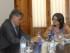 Fotografía facilitada por la Embajada de Ecuador del embajador, Miguel Calahorrano, durante la reunión que ha mantenido el jueves 30 de julio con la vicepresidenta de la Generalitat valenciana, Mónica Oltra. EFE/-