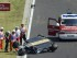 El piloto mexicano Sergio Pérez (2, izda) de la escudería Force India, tras sufrir un accidente durante el primer entrenamiento libre para el Gran Premio de Hungría de Fórmula Uno, que se disputa en el circuito de Hungaroring, en las afueras de Budapest (Hungría) hoy, 24 de julio de 2015. EFE/Szolt Czegledi.