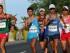De izda a dcha., los atletas Horacio Nava de México, Erick Barrondo de Guatemala, y Andrés Chocho de Ecuador, en la competencia de 50 kilómetros de marcha este domingo 26 de julio, en los Juegos Panamericanos de Toronto, Canadá. Chocho ganó la medalla de oro, Barrondo la de plata y Nava la de Bronce. EFE/Alejandro Ernesto