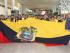 Parte de la delegación ecuatoriana que participará en los Juegos Panamericanos de Canadá posan en la villa Panamerciana. Foto tomada de la cuenta oficial de Twitter del Comité Olímpico Ecuatoriano (@ECUADORolimpico).