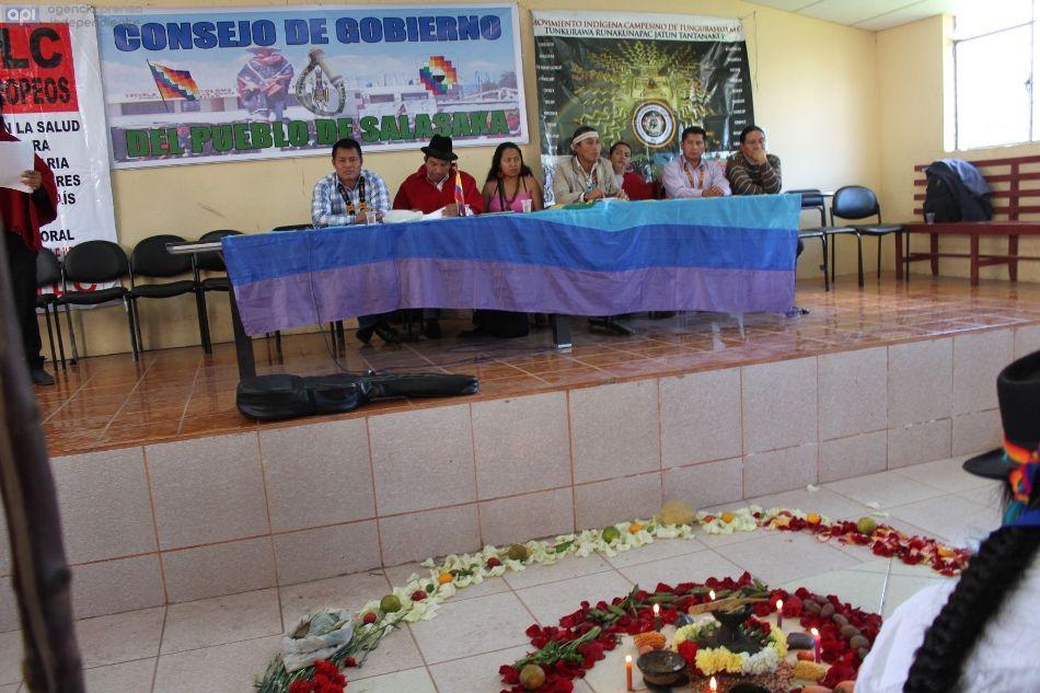 En Salasaca en la provincia de Tungurahua, el 17 de julio se 2015, se realiza la Asamblea Anual ordinaria de la Confederación de Nacionalidades Indígenas del Ecuador. API