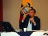 El presidente Rafael Correa en un conversatorio con los medios de comunicación, en la capital. Foto: Carlos SIlva / Presidencia de la República
