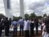 El alcalde Mauricio Rodas, en la inauguración de la Cruz del Papa, en el Parque Bicentenario. Foto tuiteada por Rodas.