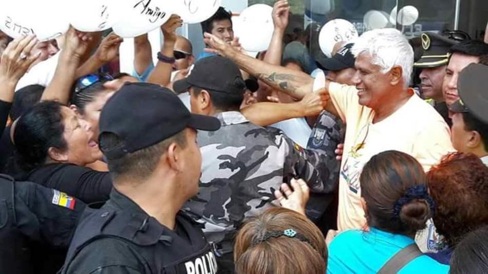 El exlegislador Eduardo Véliz, a su llegada a San Cristóbal, el sábado 25 de julio de 2015.