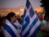 Manifestantes se reúnen cerca del Parlamento griego durante una manifestación contra el acuerdo entre el gobierno y sus acreedores, en Atenas, el 14 de julio de 2015. (Foto AP/Emilio Morenatti)