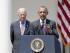 El presidente de EEUU, Barack Obama (d) y el vicepresidente Joe Biden (i) durante una rueda de prensa en los jardines de la Casa Blanca en Washington, Estadosun Unidos el 1 de julio de 2015. Foto: EFE