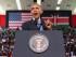 El presidente de EEUU, Barack Obama, ofrece un discurso en el Safari Indoor Arena, el domingo 26 de julio de 2015 en Nairobi, Kenia.. (AP Foto/Evan Vucci)