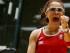 La mexicana Paola Longoria reacciona tras vencer a la argentina María Vargas en la final individual del raquetbol femenino de los Juegos Panamericanos de Toronto, el viernes 24 de julio de 2015. (AP Foto/Julio Cortez)