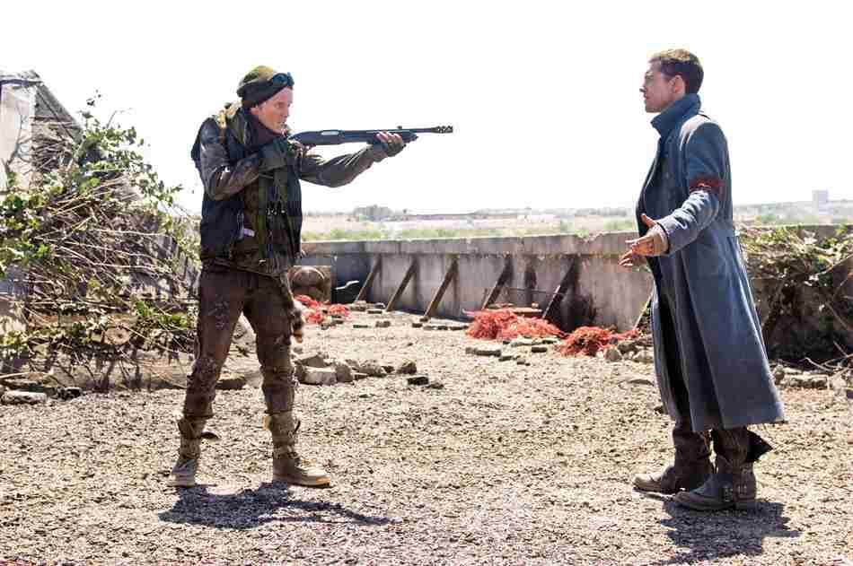 Kyle Resse y Marcus Wright en Terminator Salvation.
