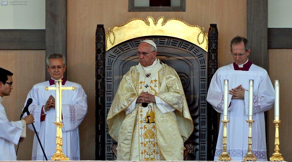 ECUADOR - Guayaquil - El Papa Francisco da misa en Samanes.. FOTOS API/JUANCEVALLOS.