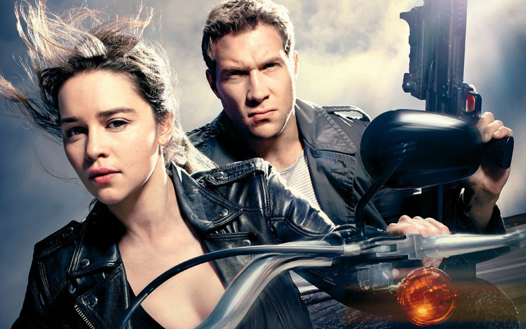 Sarah Connor y Kyle Reese en la nueva Terminator Genisys.
