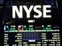 Tablero electrónico en el piso de la Bolsa de Valores de Nueva York. (Foto AP/Seth Wenig)