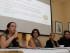 ASUNCIÓN (PARAGUAY), 12/08/2015.- La presidenta de la Academia de Cine de Paraguay, Tana Schémbori (2i), y la primera secretaria de la institución, Ivana Urizar (i), participan en una conferencia de prensa hoy, miércoles 12 de agosto de 2015, en Asunción. El cine paraguayo pide su paso en los premios Goya, que otorga la academia española del cine, y los Oscar, otorgados por la academia estadounidense, los más importantes del séptimo arte a nivel internacional, para los que ha abierto el plazo de selección de películas que se postularán a estos galardones. EFE/Andrés Cristaldo Benítez