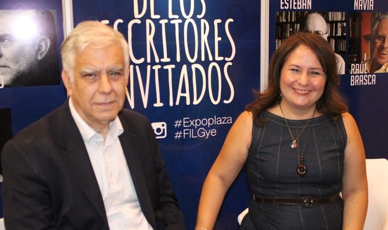 Alonso Cueto y María Rosa Jurado. Foto: LaRepública