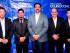 (De izquierda a derecha)  Esteban Vela, Gerente Comercial; Mirko Bojanik, Jefe de Agencia Manta; Juan Francisco Zunino, Gerente Regional; José Repetto, Gerente Financiero; Rubén Narváez, Gerente de Operaciones