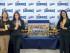 Pie de foto: (de izq. a derecha) Carolina Zambrano, Jefe de Innovación & Desarrollo Marinela Ecuador ; Carmen Regalado, Jefe de Marcas de la categoría Cakes Marinela Ecuador e Ibelia Zuñiga, Jefe de Producción Marinela Ecuador