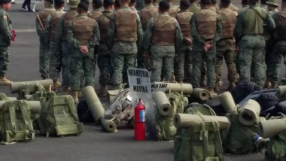 Aeropuerto de Macas, el 18 de agosto de 2015. Foto tuiteada por Danilo Tayopanta.