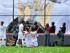 Foto de archivo. ECUADOR, Quito. El equipo Ecuatoriano Liga de Quito, se enfrenta a el Equipo de Paraguay Nacional por la Copa Sudamericana, en Quito 26 de Agosto, 2015. En la foto Holguer Matamoros celebra su gol (Liga Q) .FOTOS API / JUAN CEVALLOS.