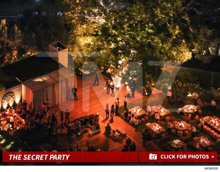 Foto de la boda de Jenifer Aniston, publicada por el sitio TMZ.