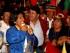 Los dirigentes de la marcha indígena en el parque de El Arbolito, la noche del 12 de agosto de 2015. FOTO API / JAVIER CAZAR