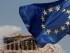Una bandera de la Unión Europea ondea delante del Partenon en Atenas, Grecia, el 15 de agosto de 2015. (Foto AP/Yorgos Karahalis)