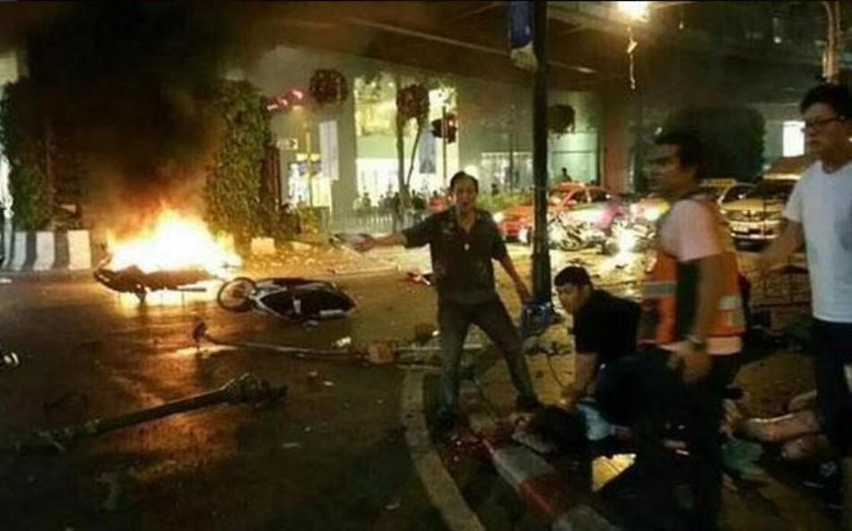 Explosión en Bangkok, el 17 de agosto de 2015. Twitter