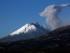 Explosiones en el volcán Cotopaxi desde el Valle de los Chillos, Quito, el 18 de agosto de 2015. Foto: API