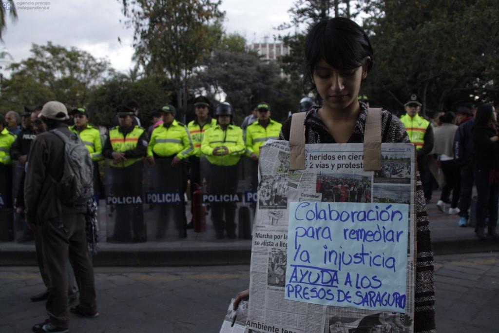Marcha en Cuenca. Foto API.
