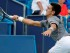 el serbio Novak Djokovic regresa un tiro del francés Benoit Paire en el Masters de Cincinnati, el miércoles 19 de agosto de 2015, en Mason, Ohio. Djokovic ganó 7-5, 6-2. (AP Photo/John Minchillo)