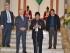 Evo Morales con el encargado de Negocios de Estados Unidos, Pete Brennan, el martes 11 de agosto de 2015. (Foto ABI)
