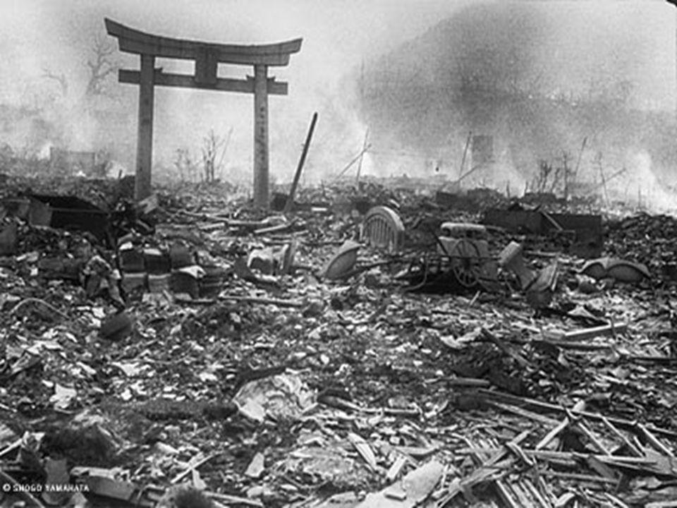 Nagasaki, semanas después del ataque nuclear.