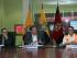 El ministro de Coordinador de Seguridad, César Navas, en rueda de prensa el lunes 17 de julio de 2015, sobre la situación del volcán Cotopaxi. Foto: API