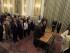 La primera ministra interina, Vasiliki Zanu (dcha), y el presidente de la República, Prokopis Pavlópulos (2ºdcha) asisten al juramento del nuevo gabinete de gobierno en el Palacio Presidencial en Atenas (Grecia) el 28 de agosto de 2015. El nuevo gabinete ministerial encargado de gobernar Grecia hasta las elecciones anticipadas prestó juramento ante el presidente de la República, Prokopis Pavlópulos, un día después de que lo hiciera la primera ministra interina, Vasilikí Zanu. EFE/Orestis Panagiotou
