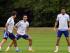 El atacante español Pedro Rodríguez ya entrena con sus nuevos compañeros en el Chelsea, Cesc Fábregas y César Azpilicueta. Foto tomada de la cuente de Twitter oficial del Chelsea (@Chelsea FC).