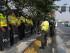 Guayaquil 13 de Agosto del 2015. Policías y Militares custodian el puente de la Unidad Nacional. Desarrollo del Paro Nacional. Fotos: Marcos Pin / API