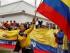 Una colombiana grita frente al consulado venezolano para protestar por el cierre fronterizo entre ambos países ordenado por Venezuela, en Bogotá, Colombia, el miércoles 26 de agosto de 2015. (Foto AP/Fernando Vergara)