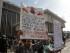 Ciudadanos guatemaltecos protestan contra la exvicepresidenta de Guatemala Roxana Baldetti el lunes 24 de agosto de 2015, afuera de la Torre de Tribunales de Guatemala, en Ciudad de Guatemala (Guatemala).