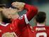 El jugador de Manchester United, Wayne Rooney, festeja tras anotar un gol contra Brujas en la Liga de Campeones el miércoles, 26 de agosto de 2015, en Brujas, Bélgica. (AP Photo/Laurent Dubrule)