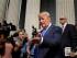 Donald Trump, aspirante a la candidatura presidencial republicana, sale del Palacio de Justicia después de prestar servicio como jurado, el lunes 17 de agosto de 2015, en Nueva York. (Foto AP/Seth Wenig)
